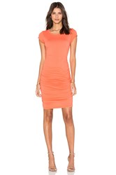 Velvet By Graham And Spencer Ciroc Gauzy Whisper Bodycon Dress Orange