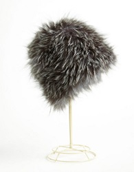 Surell Fox Fur Cap Blue Frost