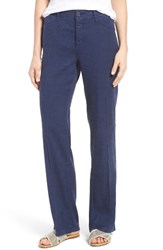 Nydj Petite Women's 'Wylie' Five Pocket Linen Trousers Republic Navy