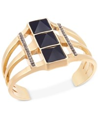 Inc International Concepts Gold Tone Triple Stone Cuff Bracelet Only At Macy's Jet