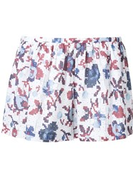Thakoon Printed Shorts White