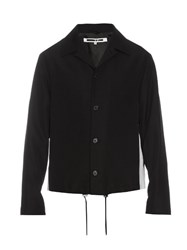 Mcq By Alexander Mcqueen Peak Lapel Wool Harrington Jacket Black
