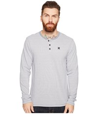 Hurley Lookout Dri Fit Long Sleeve Henley Cool Grey Men's Long Sleeve Pullover Gray