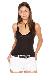 Stateside Supima Slub Jersey V Neck Tank Black