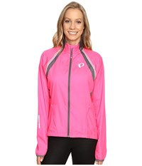 Pearl Izumi W Elite Barrier Convertible Cycling Jacket Screaming Pink Smoked Women's Workout