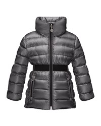 Moncler Talcy Turtleneck Down Puffer Coat Charcoal Grey