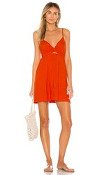 L Space Sophia Dress In Burnt Orange. Poppy