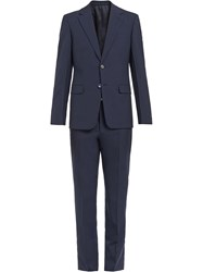 Prada Single Breasted Wool Suit Blue