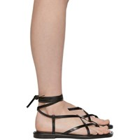 Proenza Schouler Black Strappy Flat Sandals