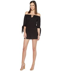 Culture Phit Ripley Off The Shoulder Keyhole Romper Black Women's Jumpsuit And Rompers One Piece