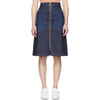 A.P.C. Indigo Denim Joe Skirt