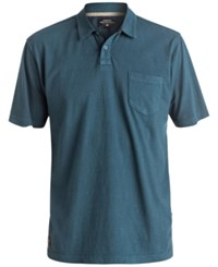 Quiksilver Waterman Men's Textured Stripe Polo Classic Fit Legion Blue
