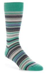 Lorenzo Uomo Stripe Cotton Blend Socks