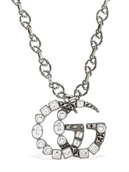 Gucci Gg Marmont Crystal Necklace Silver