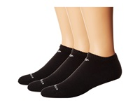 New Balance Cotton No Show 3 Pack Black No Show Socks Shoes