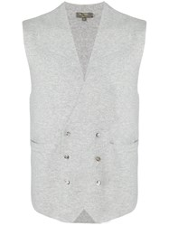 N.Peal Double Breasted Waistcoat Nude And Neutrals