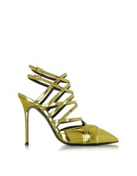 Giuseppe Zanotti Gold Metallic Leather Sling Back Pump
