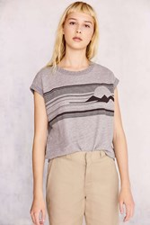 Truly Madly Deeply Sunset Muscle Sweatshirt Grey