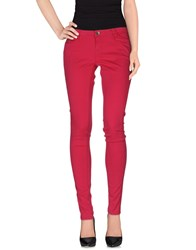 Guess Trousers Casual Trousers Women Fuchsia