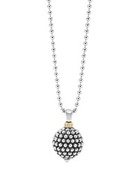 Lagos Sterling Silver Caviar Ball Pendant Necklace 34 Silver Gold
