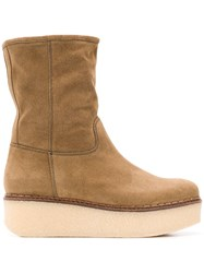 Flamingos Cheyenne Platform Boots Nude And Neutrals