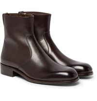 Tom Ford Icon Wilson Leather Boots Brown
