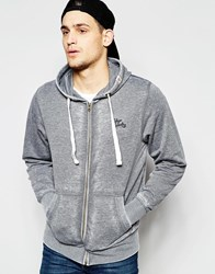 Tokyo Laundry Burnout Zip Through Hoodie Gray