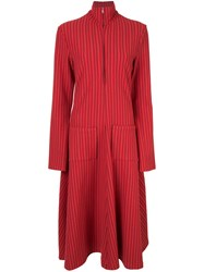 Rosie Assoulin Striped Flared Dress