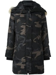 Canada Goose Camouflage Print Padded Coat Black