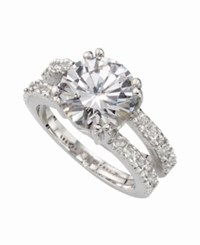 Charter Club Ring Set Silver Tone Cubic Zirconia Engagement 6 3 8 Ct. T.W. Slv Clr