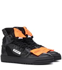 Off White Leather Sneakers Black