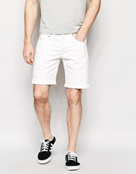 Edwin Denim Shorts Ed 55 Relaxed Tapered Natural Rinsed Natural Rinse White