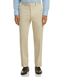 Bloomingdale's The Men's Store At Regular Fit Stretch Dress Pants 100 Exclusive Stone