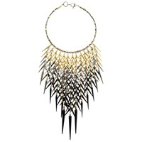 Clemmie Watson Golden Ombre Spike Necklace