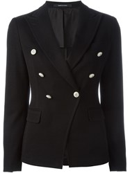 Tagliatore Double Breasted Jacket Black