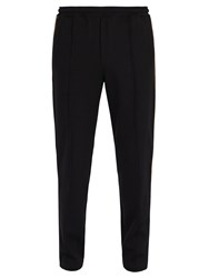 Fendi Ff Logo Trimmed Track Pants Black