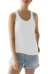 Lamade Women's Deep V Neck Tissue Jersey Tank White