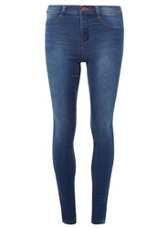Dorothy Perkins Tall Mid Wash Authentic 'Frankie' Ultra Soft Jeggings Blue