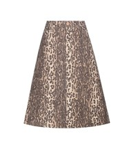 See By Chloe Printed Wool Blend A Line Skirt Multicoloured