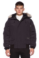 Canada Goose Chilliwack Bomber With Coyote Fur Navy