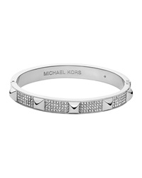 Silvertone Pave Pyramid Bangle Michael Kors