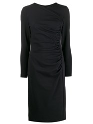 Escada Fitted Ruched Detail Dress 60