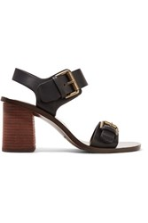 See By Chloe Buckled Leather Sandals Black