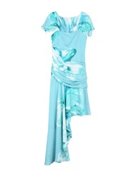 Carlo Pignatelli Knee Length Dresses Sky Blue