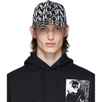 Mcq By Alexander Mcqueen Black And White Allover Print Cap