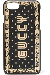 Gucci Printed Leather Iphone 7 And 8 Case Black Gbp