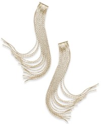 Thalia Sodi Gold Tone Multi Strand Fringe Drop Earrings Only At Macy's