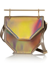 M2malletier Amor Fati Holographic Leather Clutch