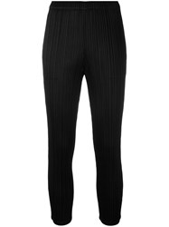 Issey Miyake Pleats Please By Pleated Skinny Trousers Women Polyester 4 Black