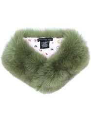 Charlotte Simone Princess Fox Collar Green